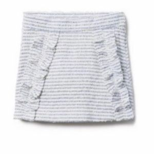Janie and Jack White blue stripped bouclé skirt